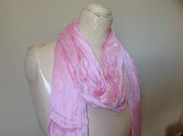 Pretty Light Pink Scrunched Style Tasseled Fashion Scarf Soft Material image 2