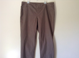 Style and Company Brown Casual Pants Stretchy Waist Back Pockets Size XL