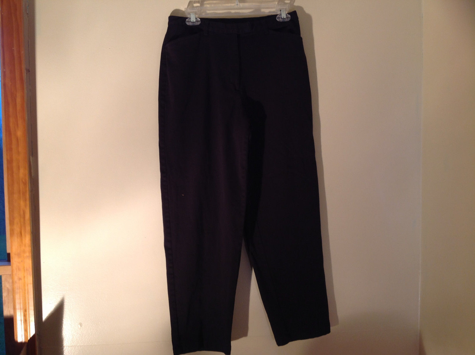 Style and Company Black Casual Pants 2 Pockets Button Clasp Zip Closure Size 10P