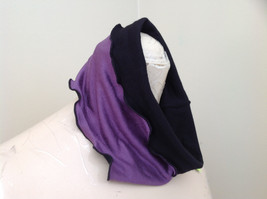 Purple Black Frilly Wide Headband Can be Worn as Either Color Caron Miller Inc image 4