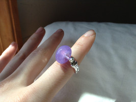 Purple Bead Silver Ring Size 4.5 by Beadit image 4