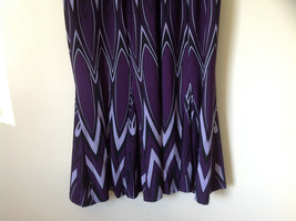 Purple Black Circular Patterned Calf Length Dress Looks Belted Size 10 image 4