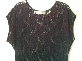 Purple Black See Through Short Sleeve Dress by Elin Cosyo California No Size Tag image 2