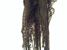 RIKKA Black Faux Fur Knitted Scarf 100 Percent Acrylic NEW WITH TAG image 5