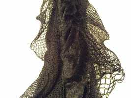 RIKKA Black Faux Fur Knitted Scarf 100 Percent Acrylic NEW WITH TAG image 4