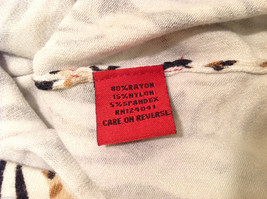 RED Zebra Animal Print Pullover Top White/Black/Brown, 3/4 sleeve, Size S image 6