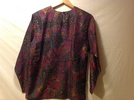 Rafaella Womans Paisley Silk Blouse, Size Small image 2