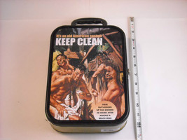 REPRODUCTION Lunch box Men Working Together 1940s propaganda image 2