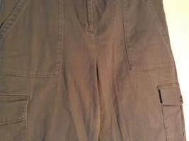 Rafaella Petite Brown Capris 6 Pockets Size 12P image 2