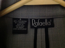 Rafaella Gray Zip Up Long Sleeved Formal Jacket Collared Front Pockets Size 8 image 7