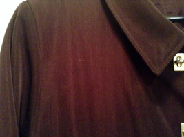 Rain Shedder Dark Burgundy Brown Fully Lined Raincoat Size 20W image 4