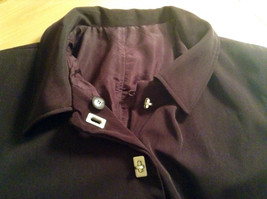 Rain Shedder Dark Burgundy Brown Fully Lined Raincoat Size 20W image 8