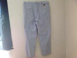 Ralph Lauren Gray White Striped 4 Pocket Pants Zip Button Closure Size 38 x 30 image 8
