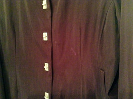 Rain Shedder Dark Burgundy Brown Fully Lined Raincoat Size 20W image 3