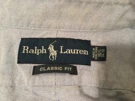 Ralph Lauren 100% Cotton Light Blue long sleeve Classic Fit Shirt, size 16-1/2 image 7