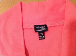 Rafaella Woman V-neck Pink 100% Cotton Short Sleeve T-shirt, Size 3X image 7
