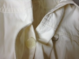Reaction Kenneth Cole White Trench Coat Belt Buttons Shoulder Pads Size Large image 11