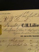 Antique Receipt 1859 Lilienthal Cavendish Tobacco 219 Washington St. NYC image 4