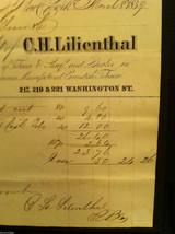 Antique Receipt 1859 Lilienthal Cavendish Tobacco 219 Washington St. NYC image 5