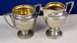 Sugar bowl and Creamer by Buffalo Mfg New York