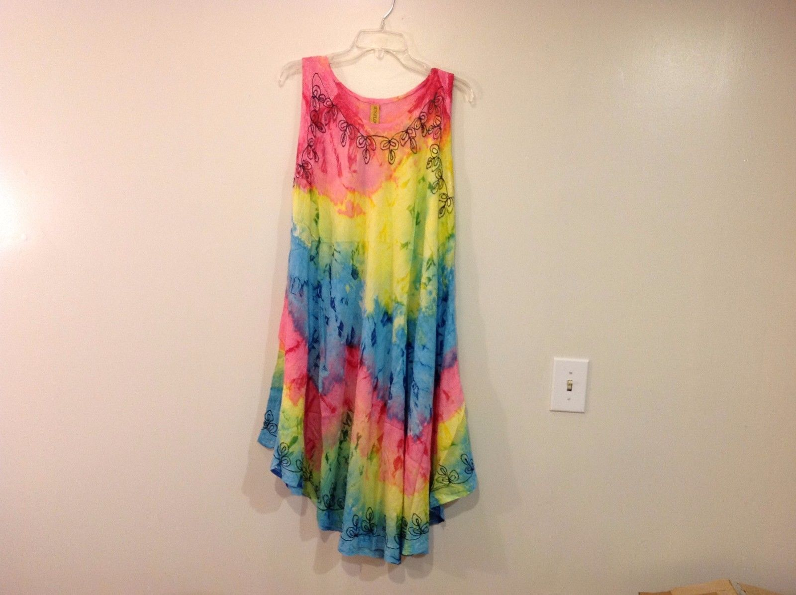 "Summer Gauzy Light Weight Tie Dye Summer dress named ""Sunflower"""