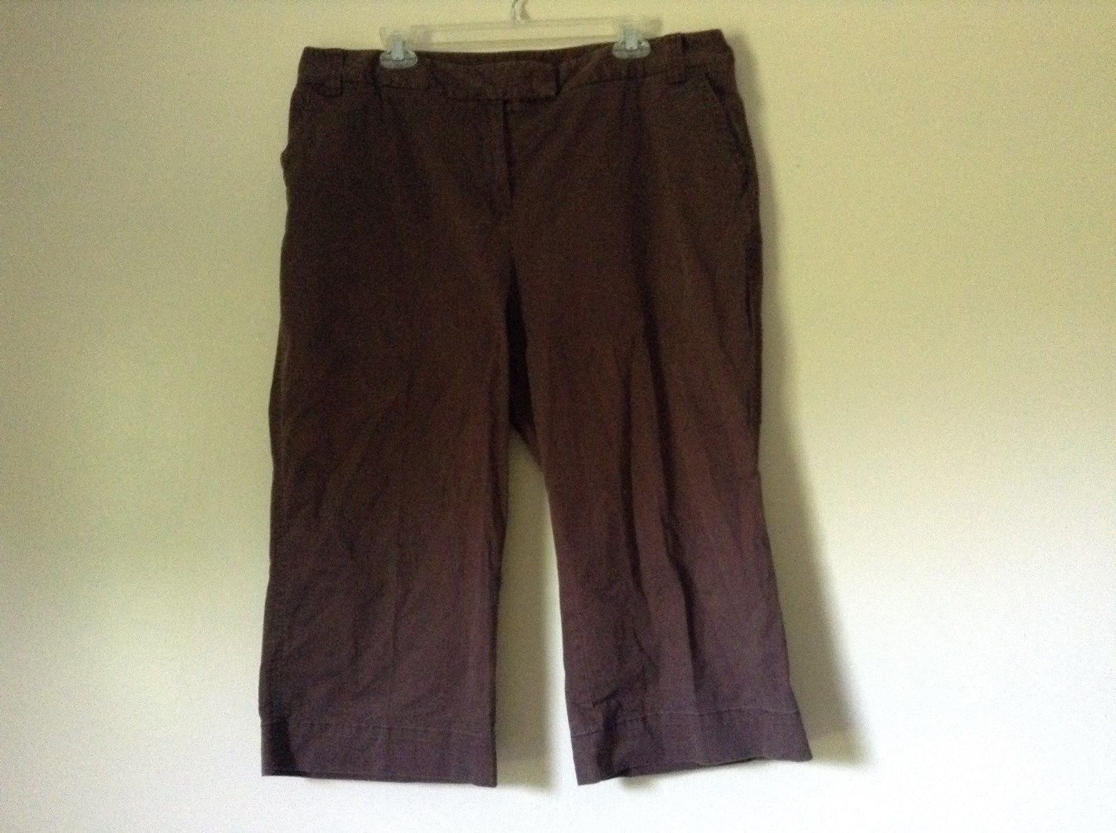 Style and Company Size 18W Dark Brown Casual Capris