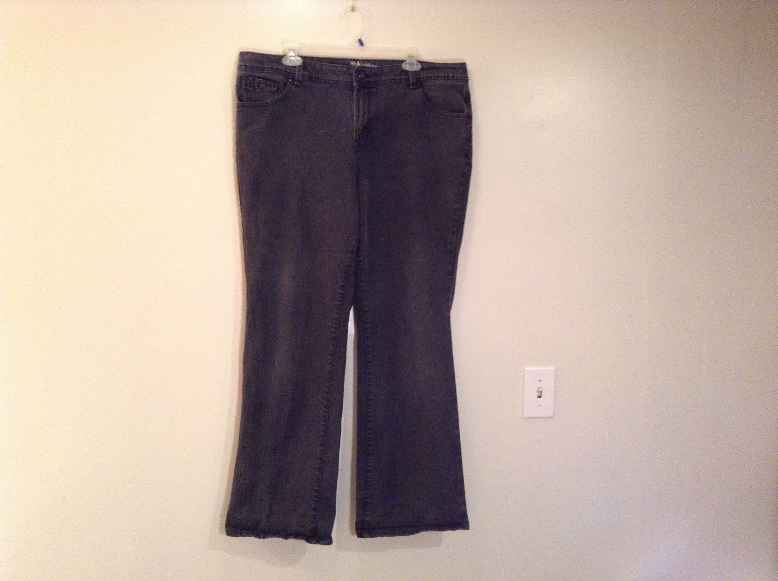 Style and Company Light Black Casual Pants Size 18W Sparkling Decoration Pockets