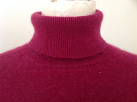 Red Turtleneck Cashmere Sweater by Lord & Taylor Made in Hong Kong Size Small image 2