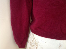 Red Turtleneck Cashmere Sweater by Lord & Taylor Made in Hong Kong Size Small image 3