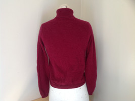 Red Turtleneck Cashmere Sweater by Lord & Taylor Made in Hong Kong Size Small image 5