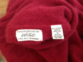 Red Turtleneck Cashmere Sweater by Lord & Taylor Made in Hong Kong Size Small image 6