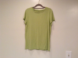 Talbots Short Sleeve Plain Light Green Citrus Green T Shirt Size Medium