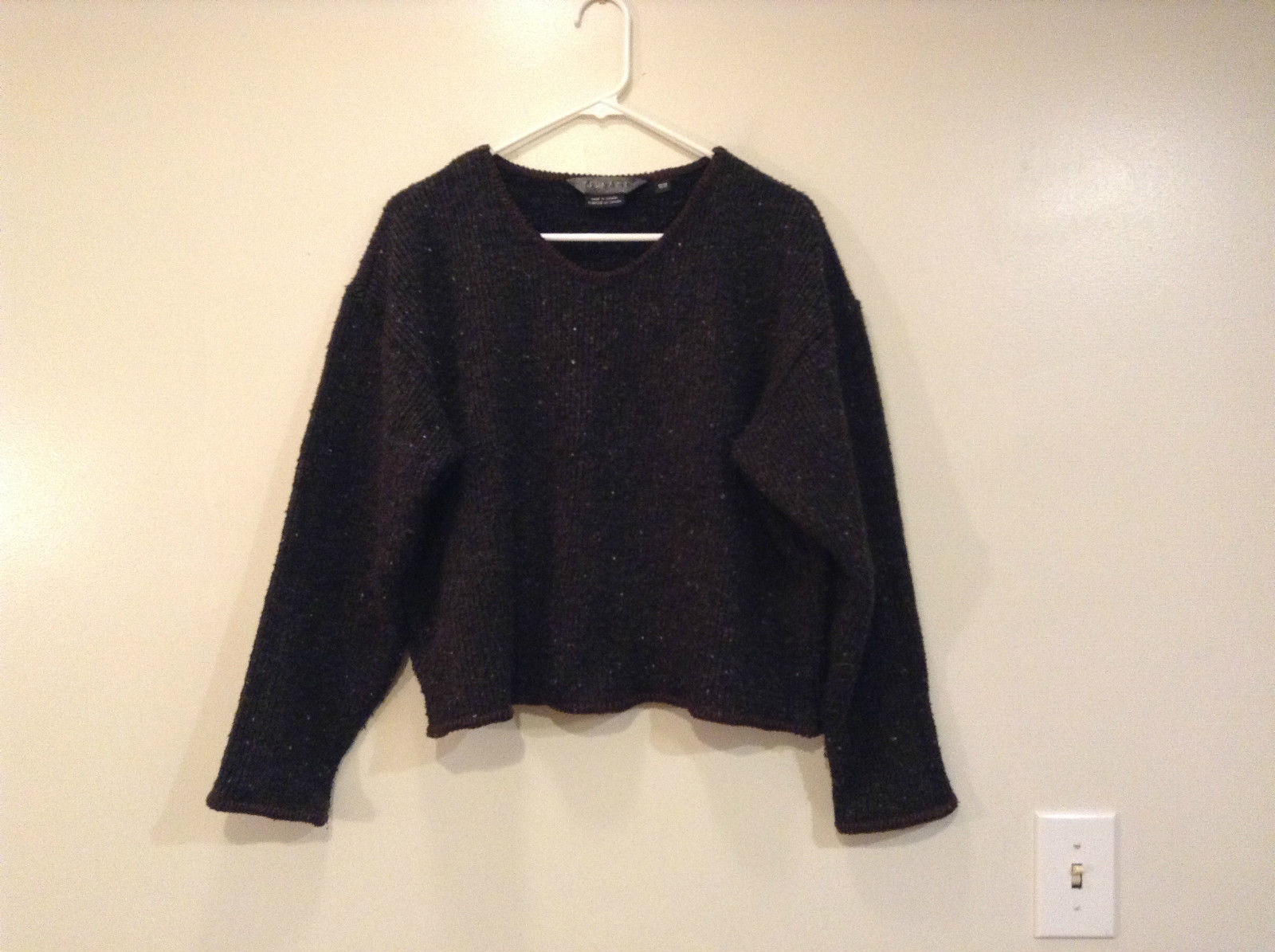 TSUNAMI Black Long Sleeve Scoop Neck Knitted Sweater Size Medium