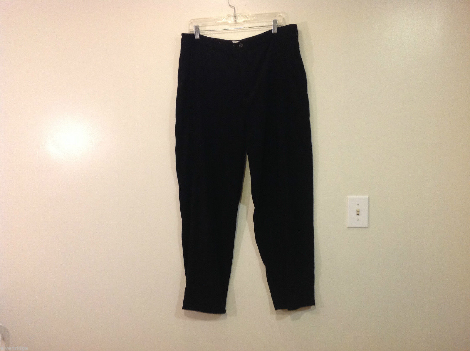 Talbots Stretch Black Pants, No Size Tag (measurements below), polyester/spandex