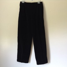 Susan Graver 100 Percent Cotton Black Casual Pants Size Large 14 to 16