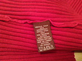 Red Stretchy V Neck Sweater Bandolino Snap Decorations on Sleeves No Size Tag image 9