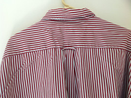 Red White Striped Button Up Front Pocket Shirt Woods and Woods Size XXL image 6