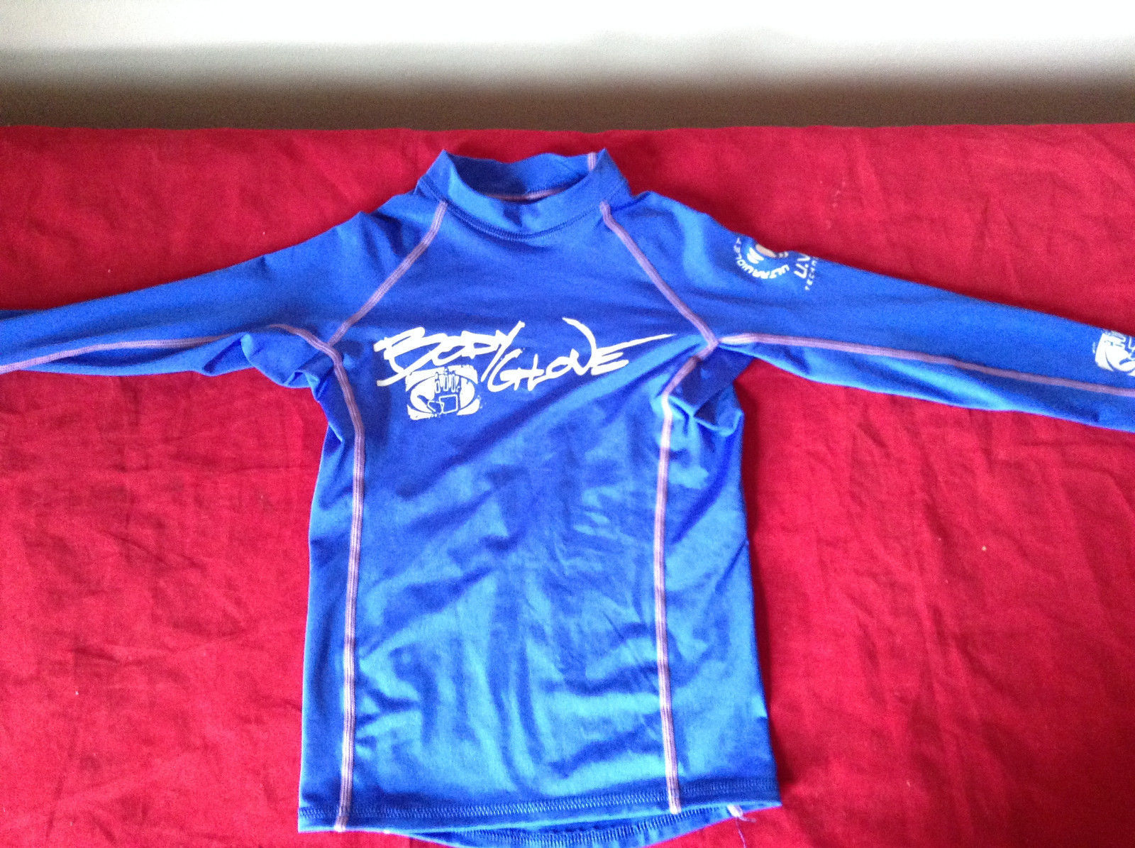 Swimming Long Sleeve Blue Ultraviolet Protection Shirt UVP Technology Body Glove