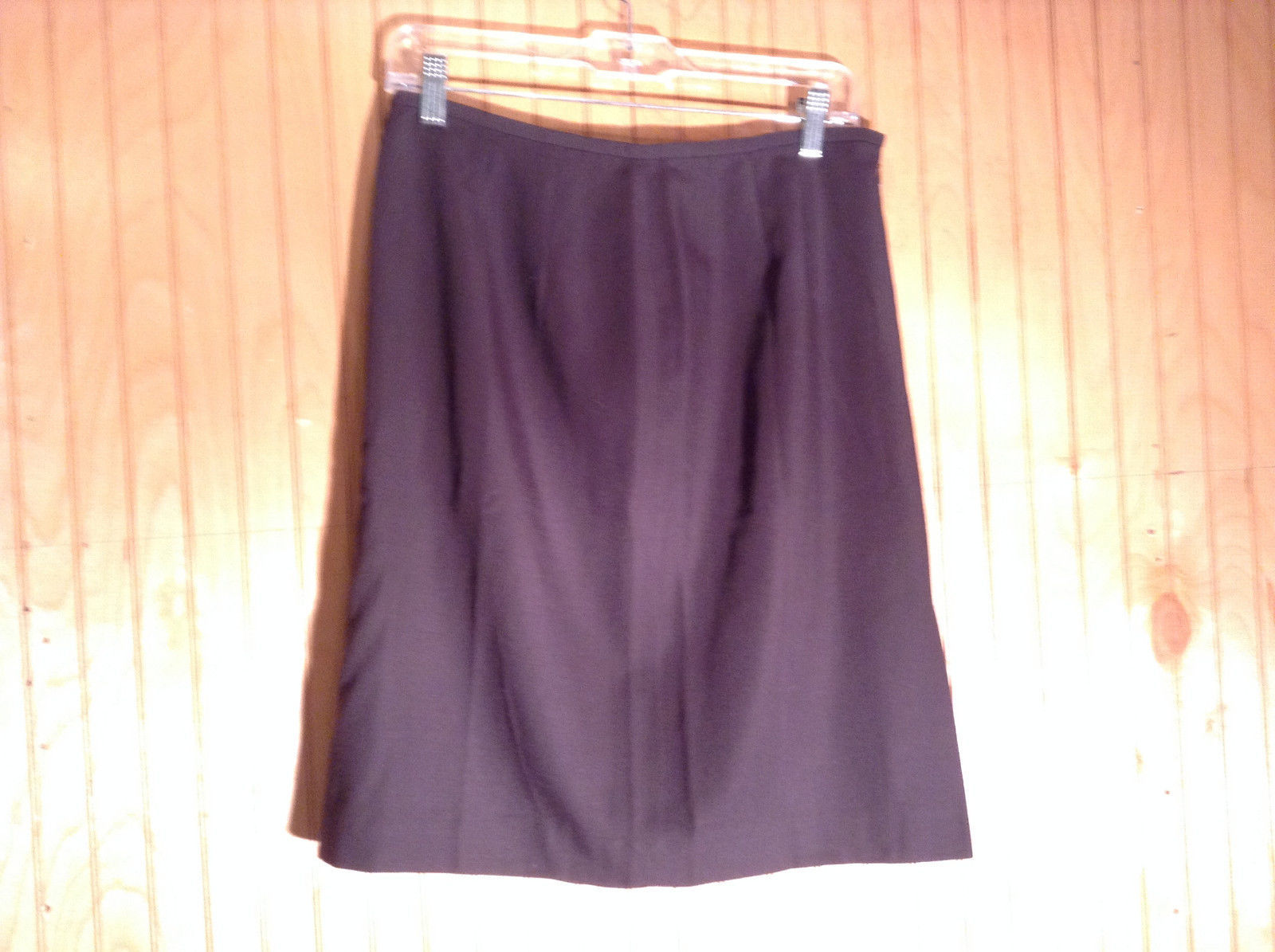 Tahari Classics Lined Black Skirt Zipper Closure on Side Made in USA Size 12