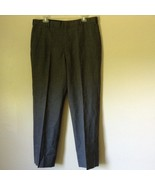 Tailored Gray Pleated Front Dress Pants 100 Percent Wool Measurements Below - $39.59