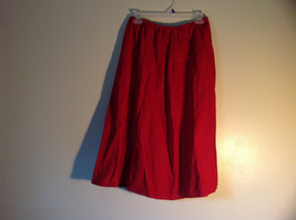 Red Elastic Waist Haldor A Line Style Skirt Made in USA Size M to L image 2