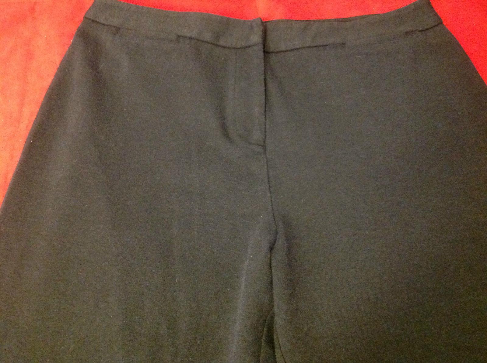 Talbots Ladies Long Black Pants Size Large