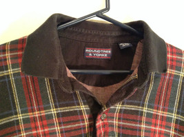Red Green Black Blue Yellow Plaid Polo Shirt Roundtree and York Size XXL image 3