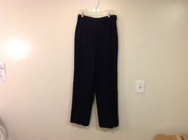 Talbots Plain Black 100% Wool Pants Fully Lined NO Pockets Size 12 Made in Japan
