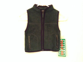Tackle Me Dark Green Zipper Front Vest Size 4 Pockets with Zipper NEW with TAG