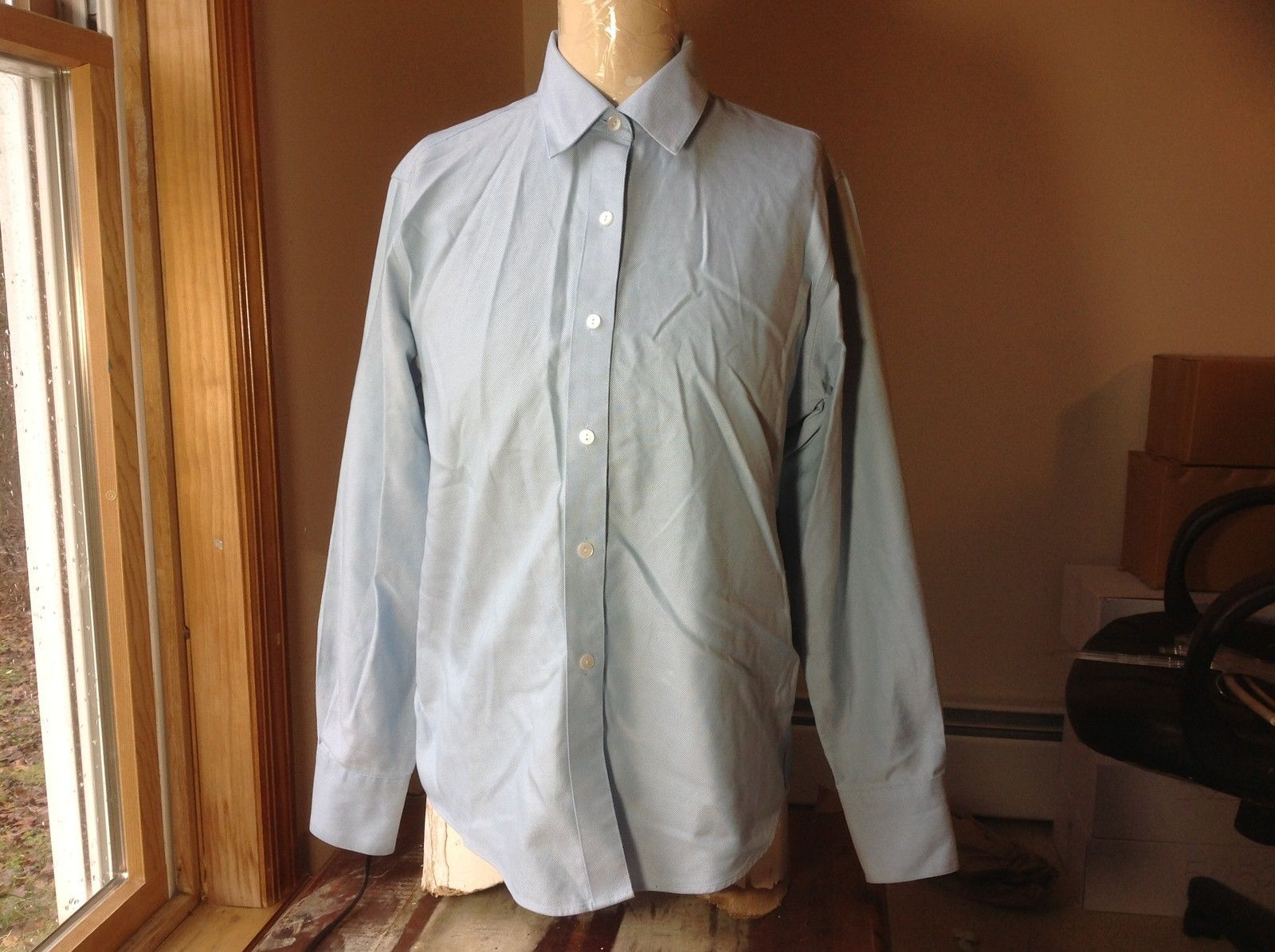 Talbots Long Sleeve Light Blue Button Up Dress Shirt Size 6