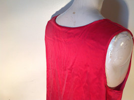Red Dressy Sleeveless 100 Percent Silk Very Soft Top by Silk House Size Medium image 5