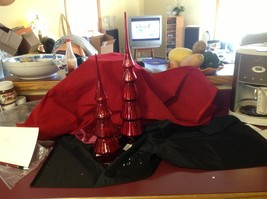 Red glass tree topper short or tall 16 1/2 or 20 1/2 inches image 2