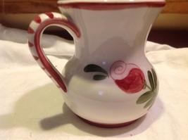 Relpo mid 1900s vintage majolica style floral ceramic pitcher image 3
