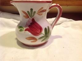 Relpo mid 1900s vintage majolica style floral ceramic pitcher image 6
